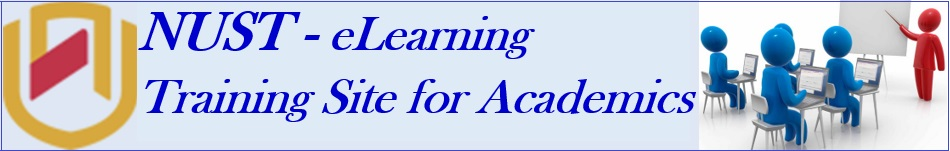 E-learning (MyNUST) Training Site